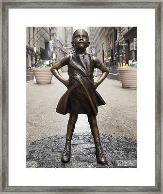 Fearless Girl 2 Framed Print