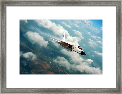 Fearless Ra-5c Vigilante Framed Print by Peter Chilelli