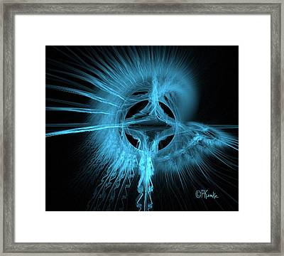 Feather And Smoke Dreamcatcher Framed Print