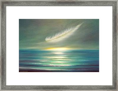 Feather At Sunset Framed Print