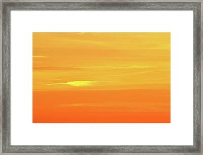 Feather Cloud In An Orange Sky  Framed Print by Lyle Crump