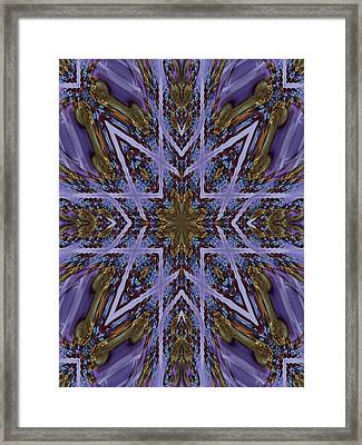 Feather Cross Framed Print by Ricky Kendall