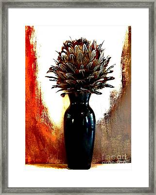 Feather Flowers Framed Print