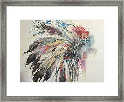 Feather Hawk Framed Print