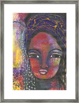 Framed Print featuring the mixed media Feather In My Cap by Prerna Poojara