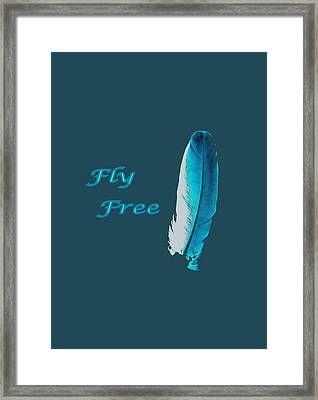 Feather Of Free Flight Framed Print