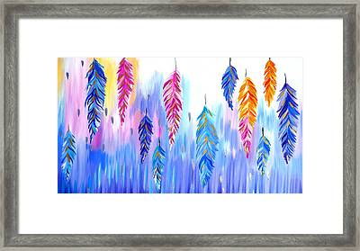 Feather Prints Framed Print