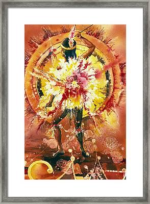Feather Spirit Dancer Framed Print