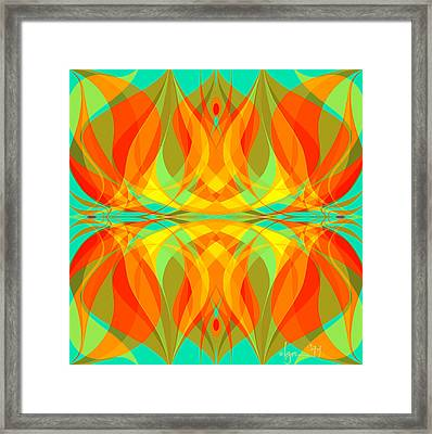 Feather Touch Framed Print by Angela Treat Lyon