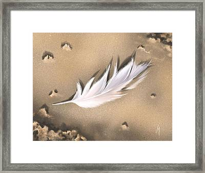 Feather Framed Print by Veronica Minozzi