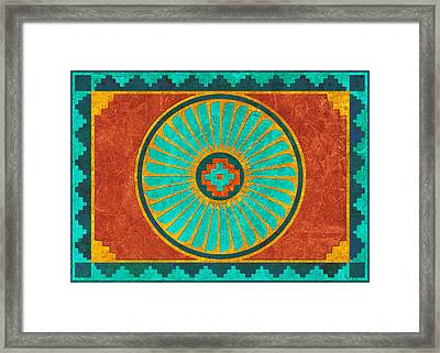 Feather Wheel Framed Print by Linda Henry