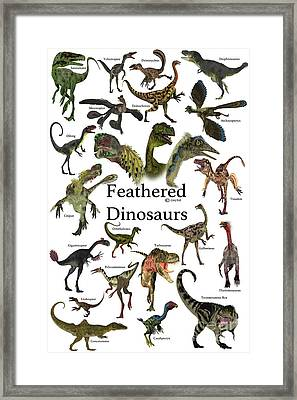 Feathered Dinosaurs Framed Print by Corey Ford