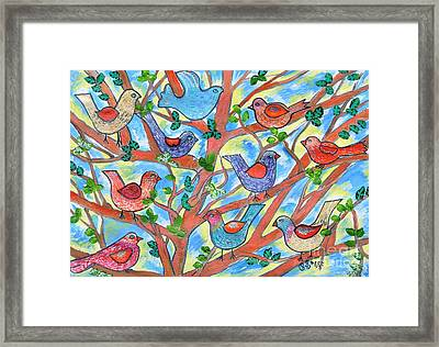 Feathered Friends Framed Print