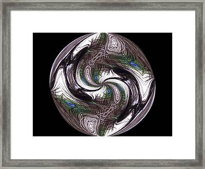 Featherly Globe Framed Print by Yvette Pichette