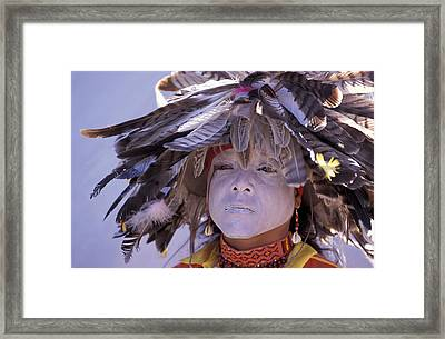 Feathers Framed Print by Christian Heeb