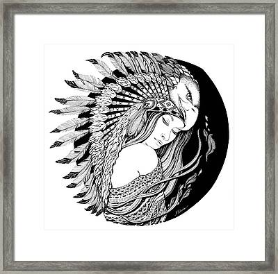 Feathers Dream Framed Print