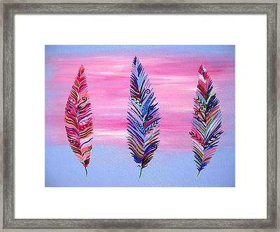 Feathers II Framed Print by Cathy Jacobs