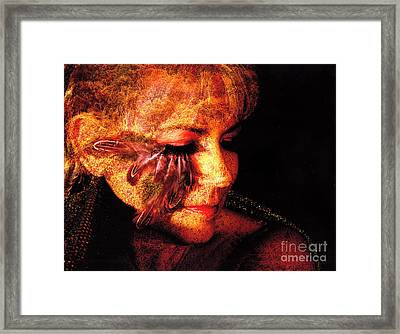 Feathers Of Beauty Framed Print by Clayton Bruster