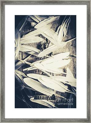 Feathers Of Freedom And The Statue Of Liberty Framed Print