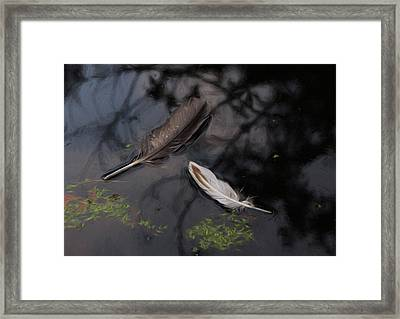On The Surface - Digitally Painted Framed Print by Marilyn Wilson