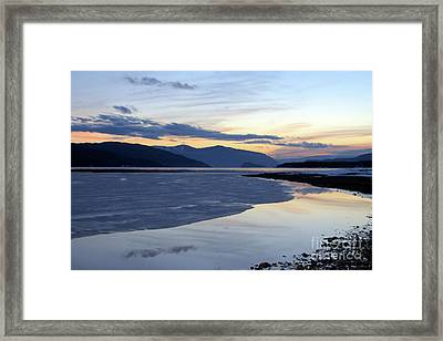 February At Dusk 5 Framed Print by Victor K