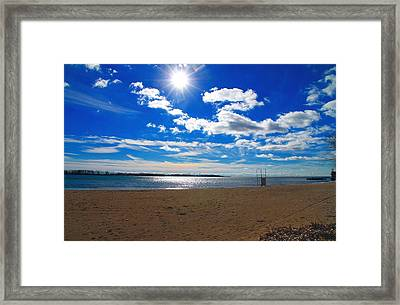 Framed Print featuring the photograph February Blue by Valentino Visentini