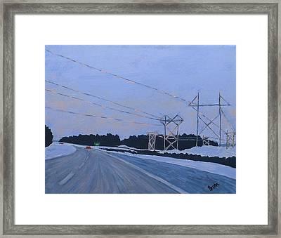February Dawn Framed Print