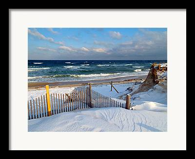 Cold Storage Beach Framed Prints