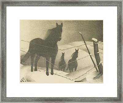 February  Framed Print by MotionAge Designs
