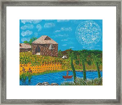 February  Mayan Farm Framed Print
