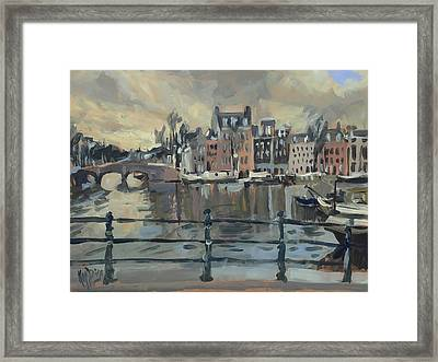 February Morning Along The Amstel Framed Print
