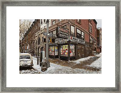 February Pharmacy Framed Print by Ted Papoulas