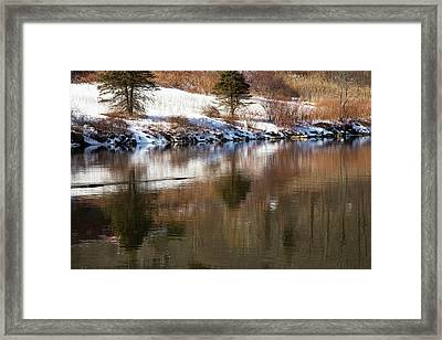 February Reflections Framed Print