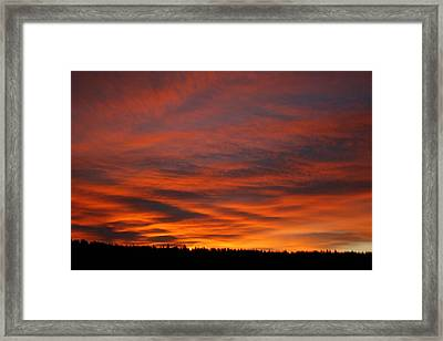February Sunrise On The Ridge Framed Print by Suzanne Lorenz