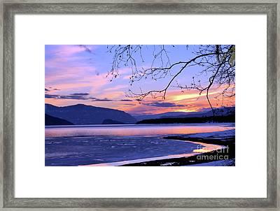 February Sunset 2 Framed Print