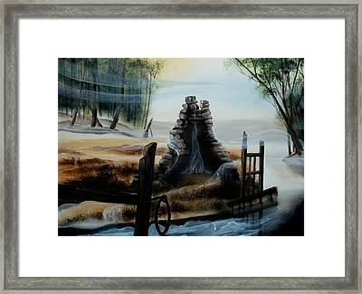 February Thaw Framed Print by Kathleen Romana