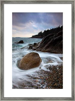 February Tides Framed Print by Patrick Downey