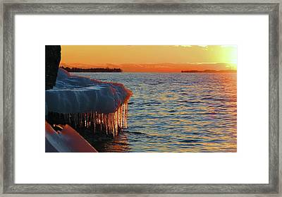 Feburary Sunset Cape Vincent Framed Print