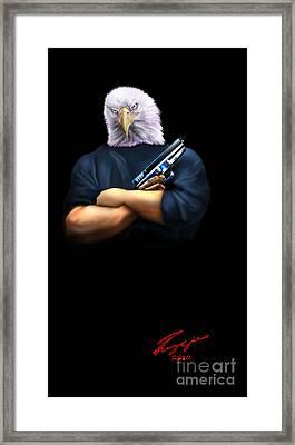 Fed Up 2 Framed Print by Reggie Duffie