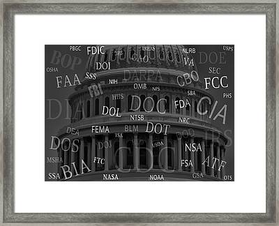 Federal Agencies Of The United States Framed Print by Daniel Hagerman