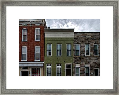 Federal Hill Baltimore Framed Print