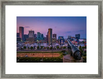 Federal Hill In Baltimore Maryland Framed Print by Susan Candelario