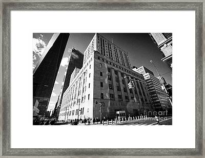 Federal Post Office Building New York City Usa Framed Print