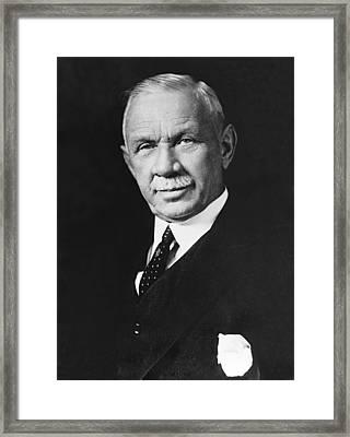 Federal Reserve Banker Framed Print by Underwood Archives