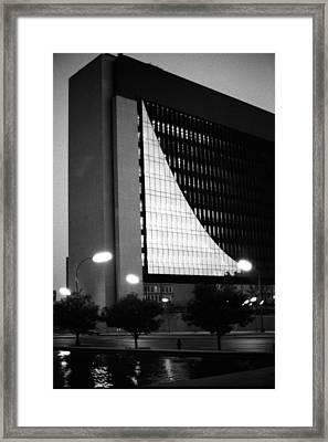 Federal Reserve Building At Twilight Framed Print