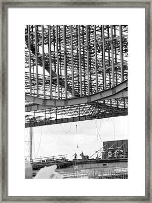Federal Reserve Construction Framed Print