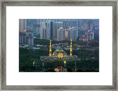 Federal Territory Mosque Framed Print by David Gn