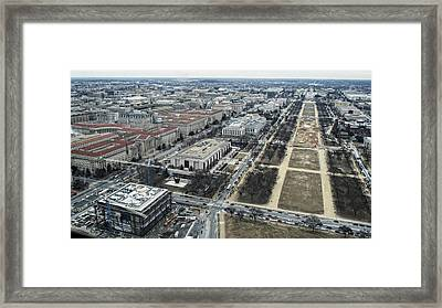 Federal Triangle And Mall Framed Print
