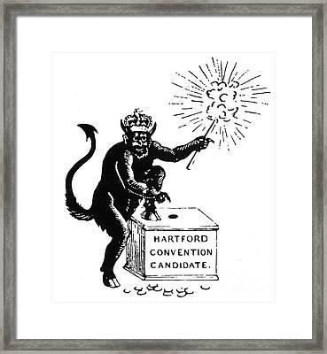 Federalist Cartoon, 1816 Framed Print