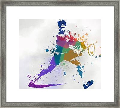 Federer Paint Splatter Framed Print